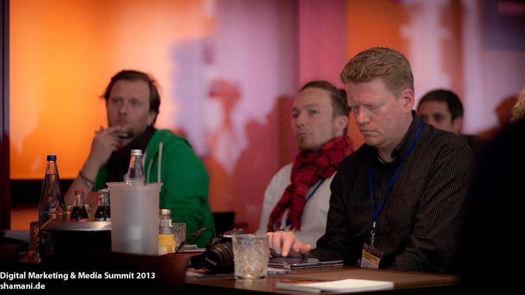 Mit Sebastian Freitag und Johannes Lenz auf dem d2m13, fotografiert von Sandra Schink (Shamani.deCC BY-NC-ND 3.0)