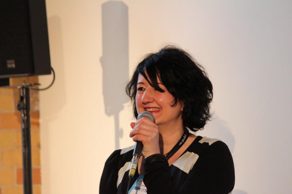 Wibke Ladwig auf der re:publica 2013.