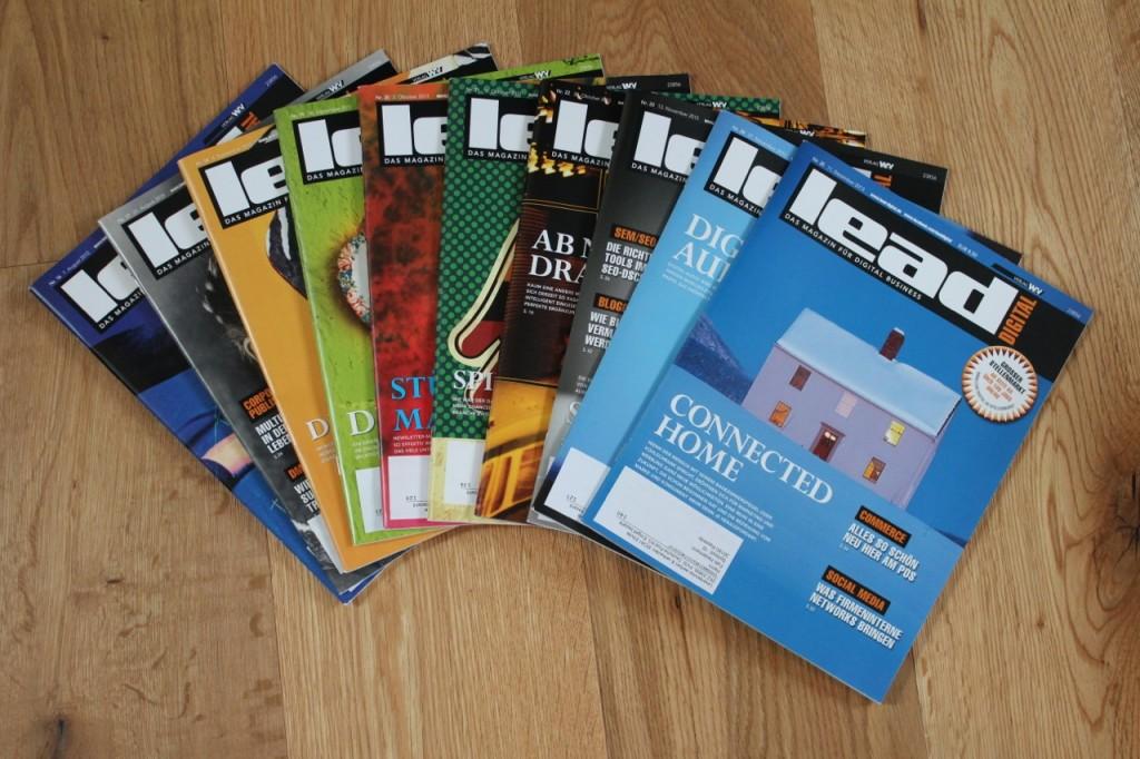 Die ersten zehn Ausgaben von LEAD digital, an denen ich mitgewirkt habe.